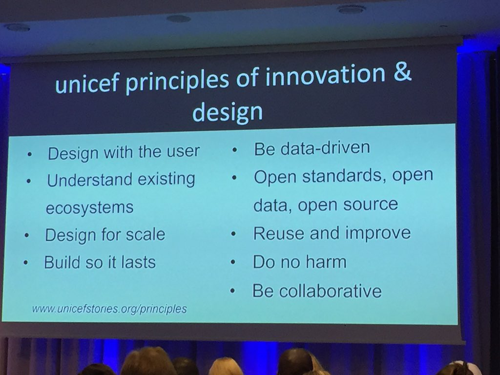 Love the @UNICEFinnovate principles of innovation and design #uinnovate https://t.co/BY8ZjEj3n6