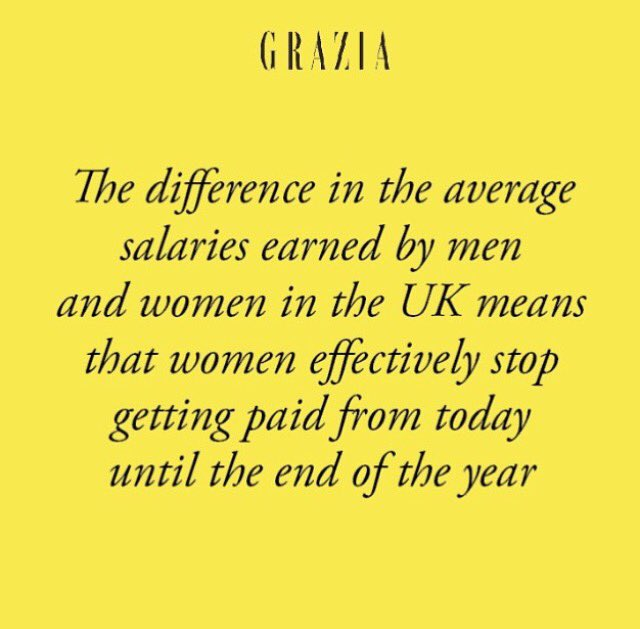 Just spotted this over on @GraziaUK Instagram and it's made me feel all ragey. We still have so far to go. https://t.co/PcmQdpk4Hi