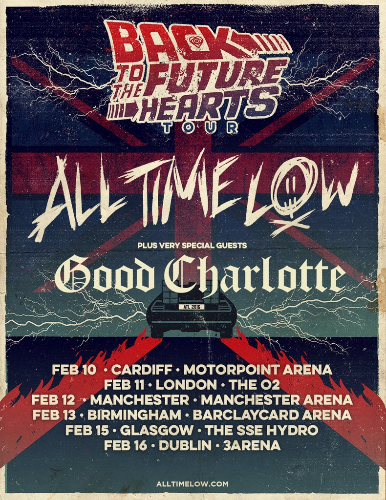 Excited to announce that we'll be joining @AllTimeLow on upcoming #BTTFH dates! Tickets: https://t.co/9Wi11YI6Xe https://t.co/yjAkTASf47