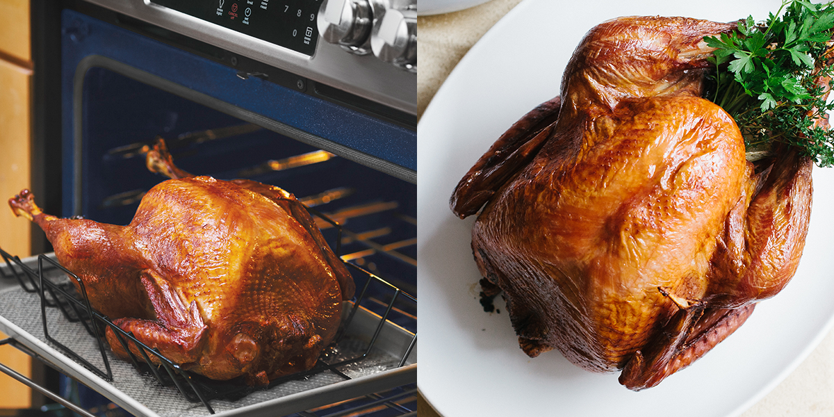 Heighten the flavor of roasted turkey with a Pinot Noir and fresh herb brine: https://t.co/ciPF6JMeQo https://t.co/zrVX9TvRi3