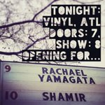 TONIGHT: Vinyl, ATL Doors: 7 Show: 8 Opening for @rachaelyamagata Who's comin'? https://t.co/6f3WC8vz42
