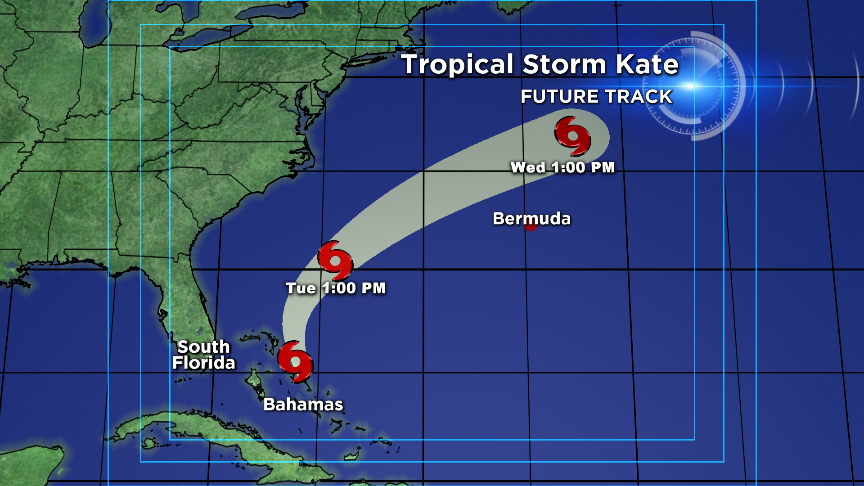 Image Latest Forecast Track For Tropical Storm Kate Still Consistent In Showing Storm Moving Away From Us Atcbs4weather