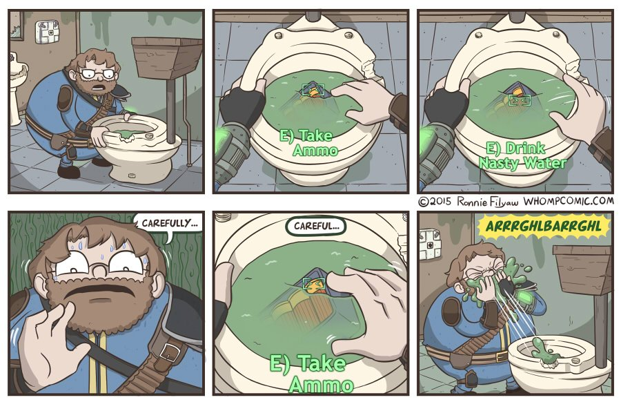 While waiting for Fallout 4 to launch in 7hr and 37 minutes, may this give you a laugh. https://t.co/L8ePBBDQTT