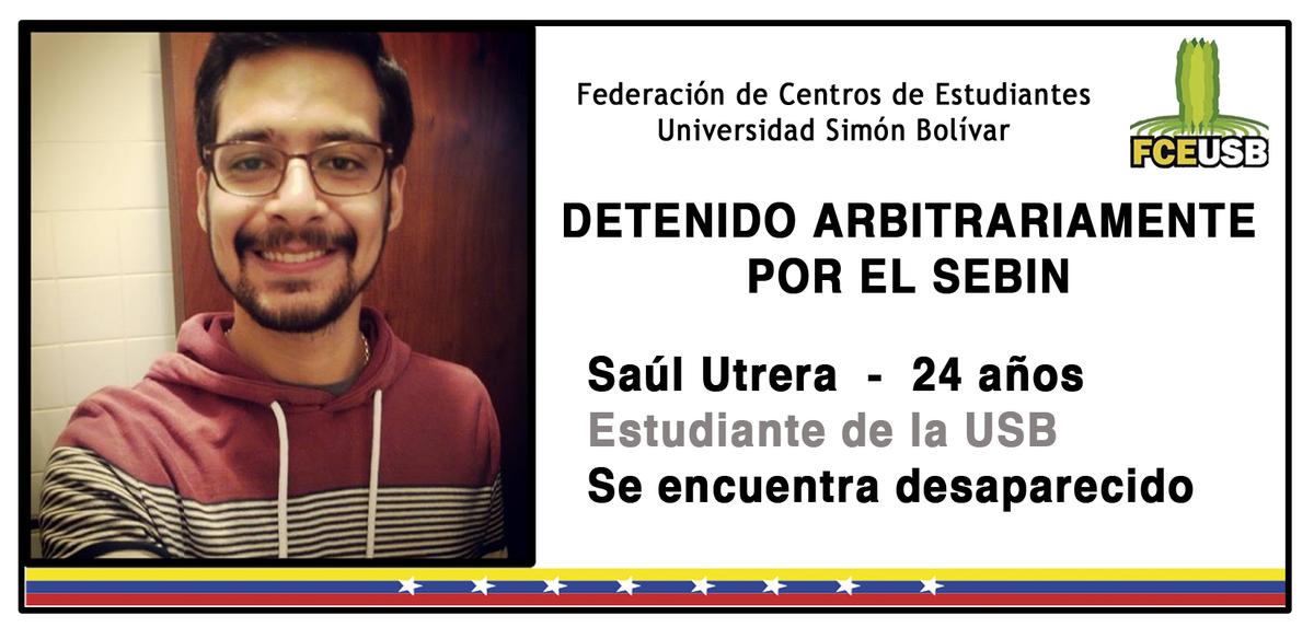 Denunciamos la detención arbitraria de nuestro Secretario General Saúl Utrera. https://t.co/YnWUvdOsQt