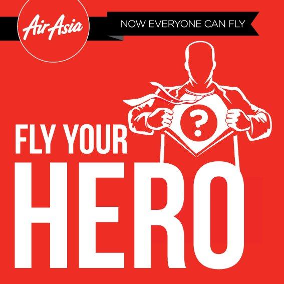 Ikuti FlyYourHero di dan menangkan 2 tiket AirAsia* dan terbang bersama pahlawan Anda!