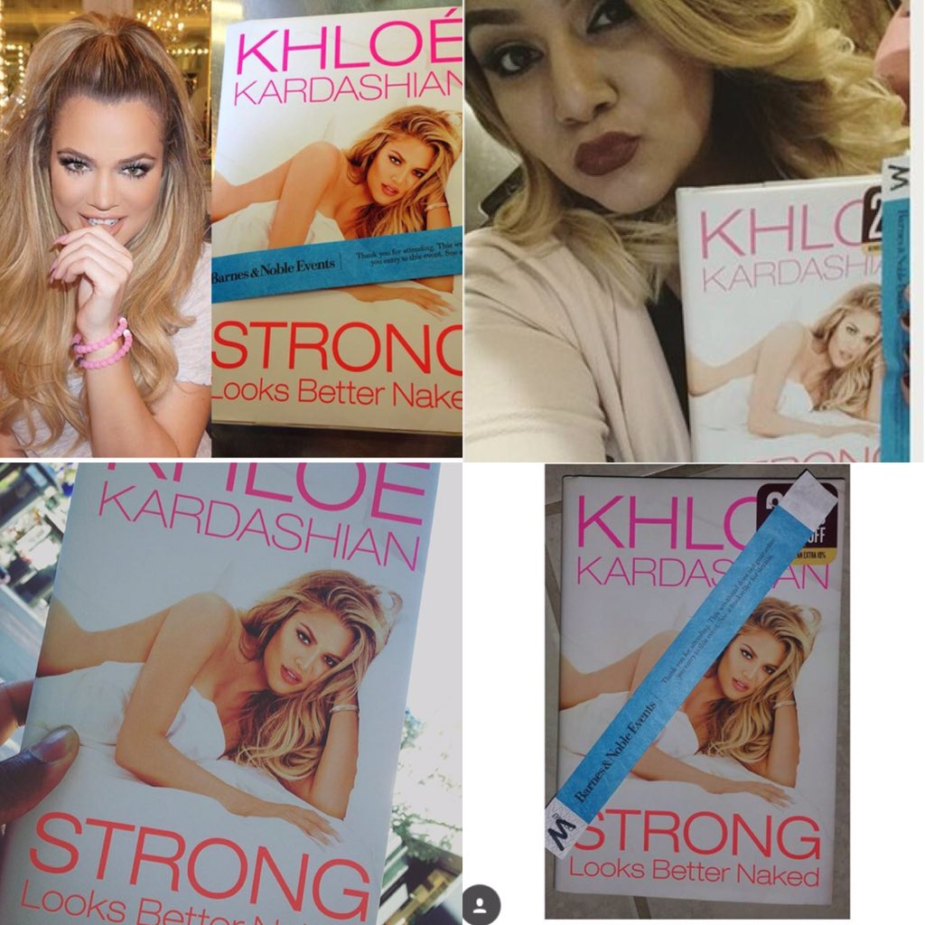 RT @KhloeKStan: OKAY DOLLS 1 HOUR till YALL MEET QUEEN @khloekardashian  ❤️ Fans with #StrongLooksBetterNaked & there wrist bands❤️ https:/…