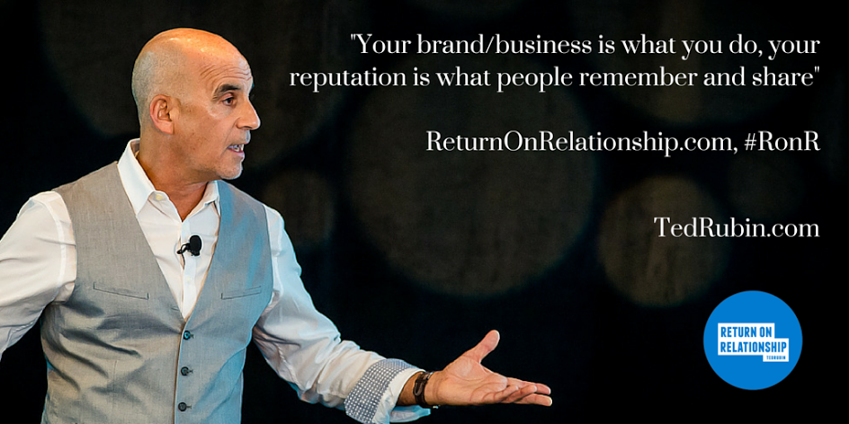 Your brand/biz is what you do, your reputation is what people remember/share https://t.co/4gGJAqu0SD #RonR #NoLetUp https://t.co/pz5JcGYZzh
