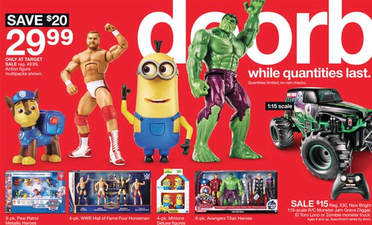 Toys section of Target's Black Friday ad has a Minion, Hulk, & ARN ANDERSON doing DISCO!  https://t.co/5GHpzlGcY7 https://t.co/gTqRJMVEAZ
