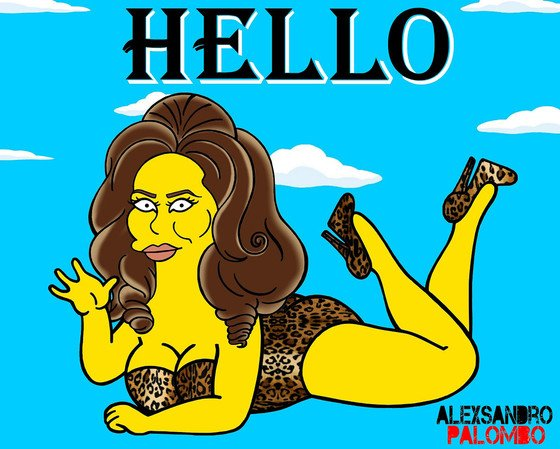 Say hello to the latest celeb getting the Simpsons treatment: