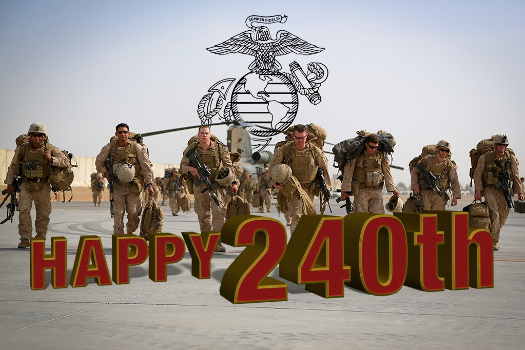 Happy 240th Birthday @USMC! #OORAH!!! #SemperFi https://t.co/T3C37RGUKC