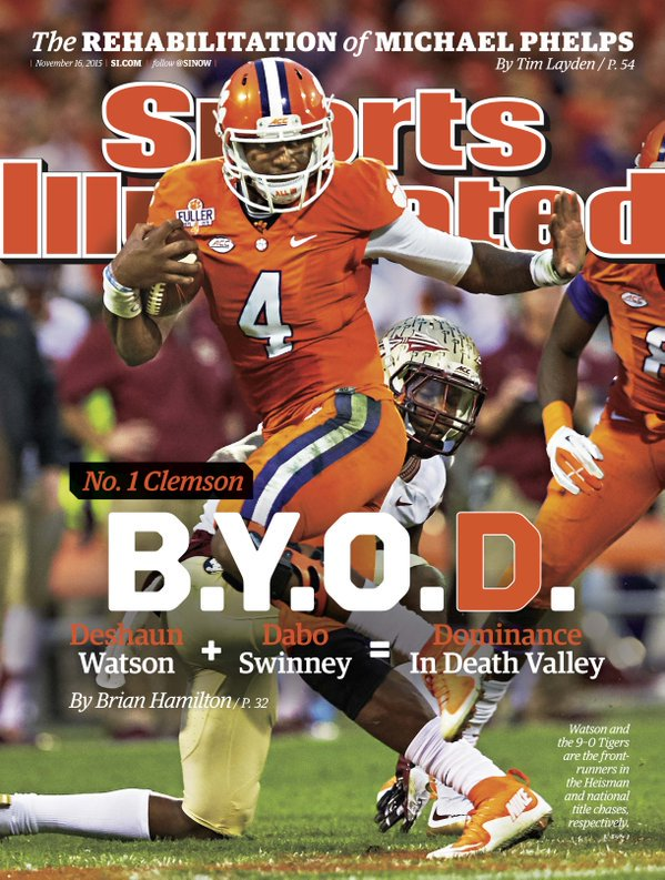 Deshaun Watson is just the second Clemson athlete to make cover of SI. Perry Tuttle the other (1982). https://t.co/hO1ypCE3A1