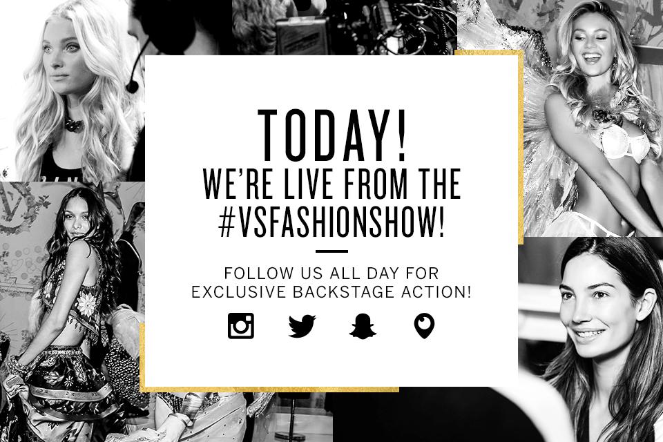 We're shooting the #VSFashionShow NOW! Sneak peek here & at https://t.co/e6KwtZY0Xu https://t.co/l7OhGdX5vP