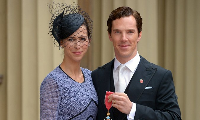 Congrats Benedict Cumberbatch! The actor is supported by wife Sophie Hunter at CBE ceremony:
