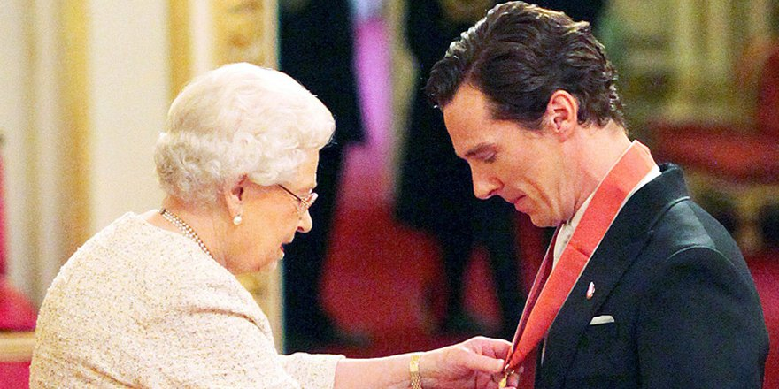 Benedict Cumberbatch has met the Queen!