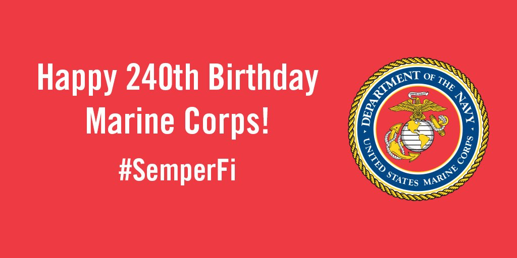 Here's to 240 years of the Few, the Proud, the Marines. #SemperFi https://t.co/GEPQOnwULr