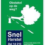 Het waait in Rotterdam. Obstakel op de weg? Bel 14 010 voor Snel Herstel. Zie https://t.co/XuW3VSnrFY. https://t.co/chUGPsrTVe