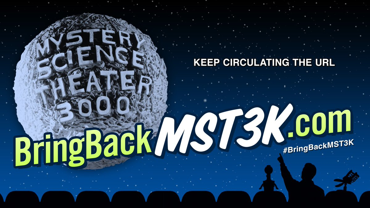Let's help @JoelGHodgson #bringbackmst3k! There's a @kickstarter live NOW at https://t.co/fZS0LHoptr https://t.co/qk17Px7jsI