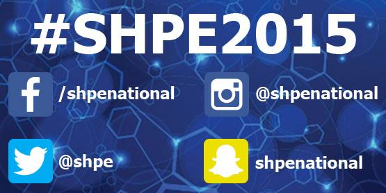 All this week join us and share your conference experience by using the hashtag #SHPE2015! https://t.co/u4yxkK7H9s