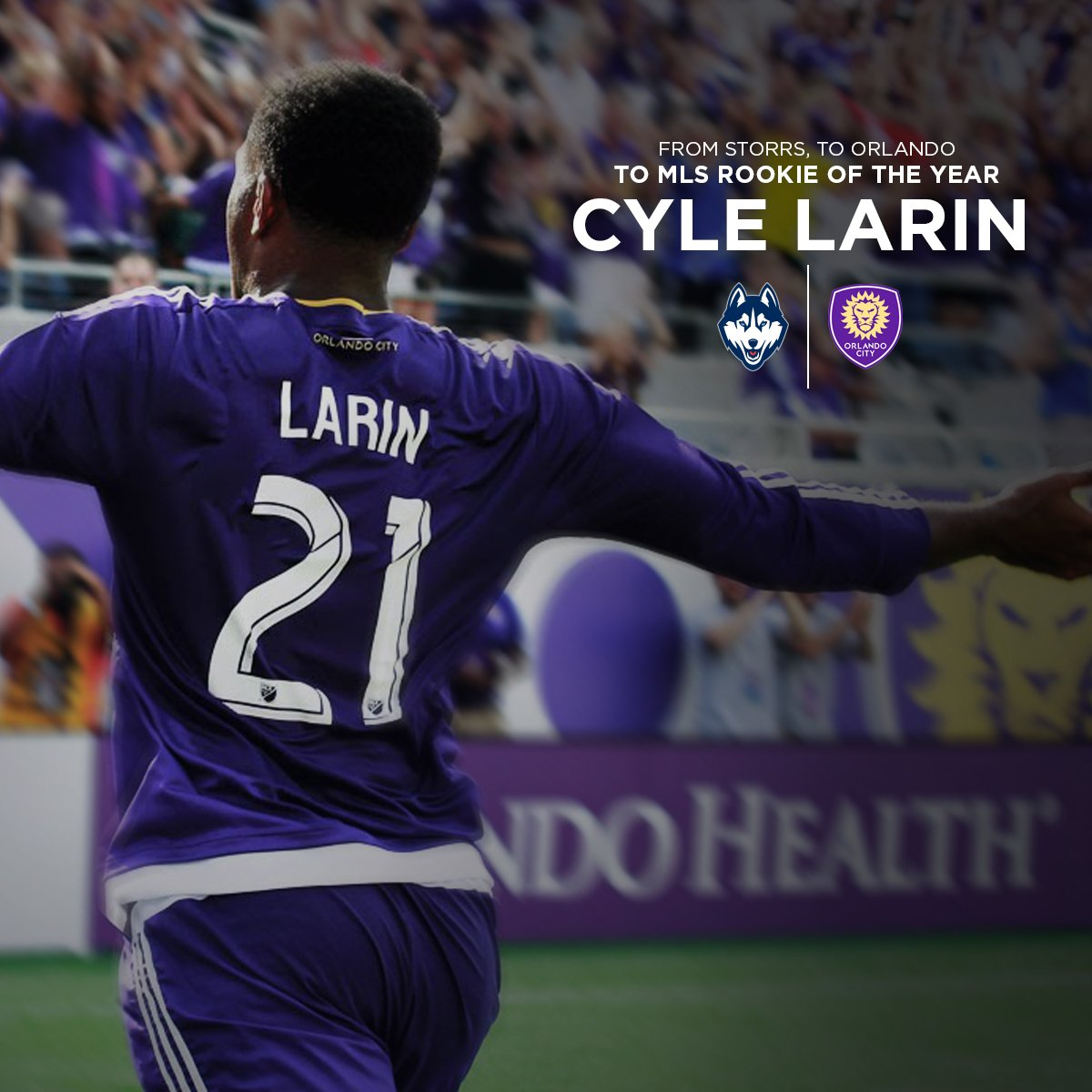 .@CyleLarin is the @MLS Rookie of the Year!  Congrats to the former #UConn and current @OrlandoCitySC striker! https://t.co/HKMO6pu5Mw
