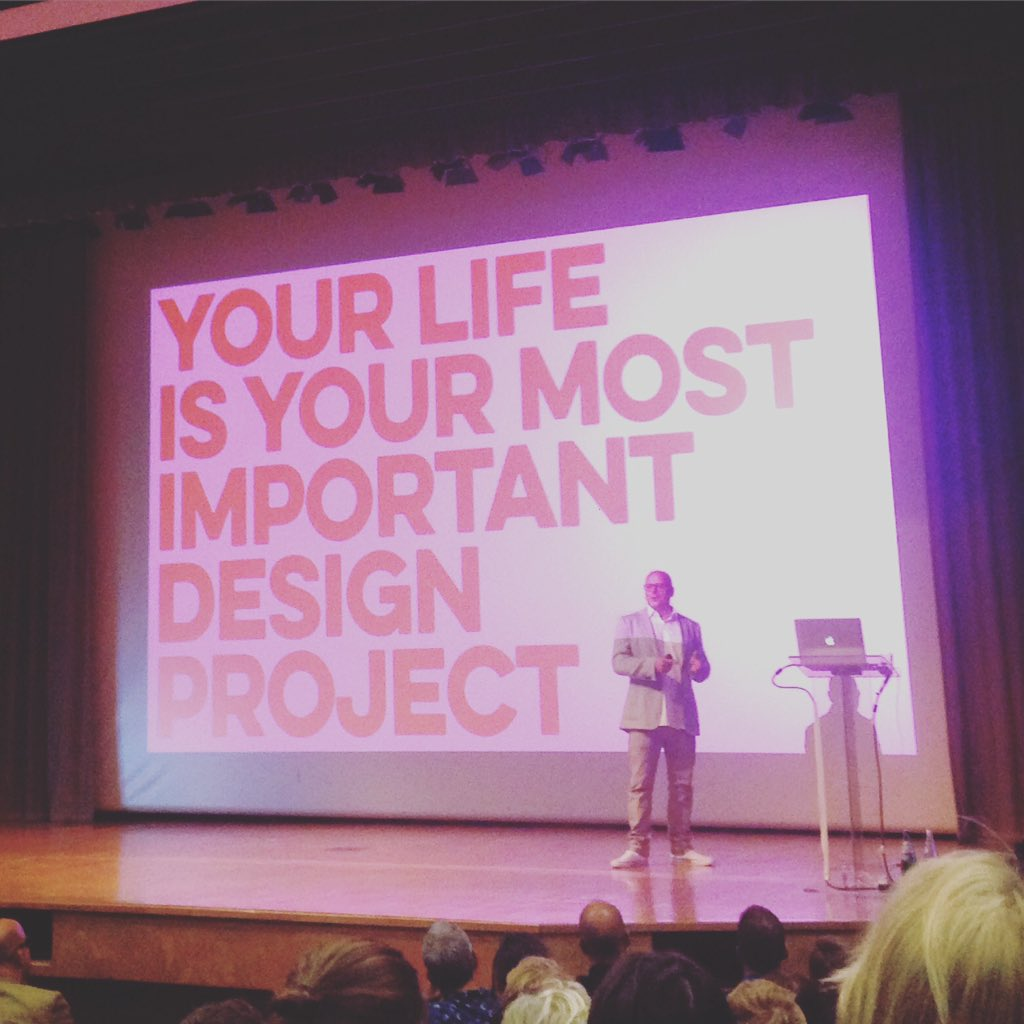 "A great evening from @dandad with @vincefrost on how to design your life. ""life is messy"" https://t.co/mr5cGJrMXk"