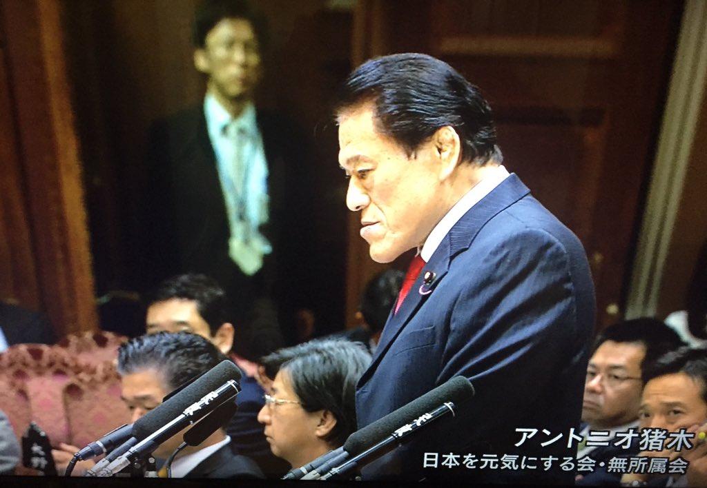 国会中継でアントニオ猪木議員が質問し馳浩文部科学大臣が答弁しているというプロレスファンとしては感慨深い光景を見ている。 https://t.co/YeBvyV9lwY