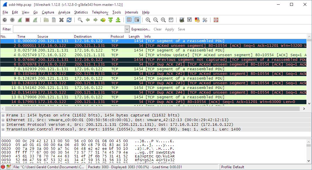 Wiresharkの2.0が出るらしく、作者が「インターフェースを丸々変えたんだ。ほら、見てくれよ!」って言ってるんだけど、ほぼ間違い探しレベルになってる https://t.co/ZbR8plvHoJ (というネタ) https://t.co/2QVAXDsVaK