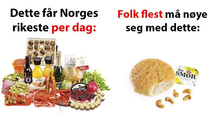 Norges tusen rikeste har fått 2100 kroner dagen i skattelette. Folk flest har fått 5,30.  https://t.co/M1maEGQEwy https://t.co/2vEKUkASv6
