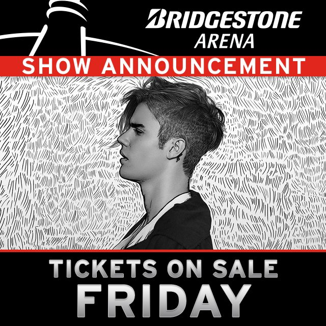 ANNOUNCEMENT: @justinbieber is returning to #Smashville on the #PurposeWorldTour 6/27! Tix on sale Friday, 11/20! https://t.co/lTSIjuvuIn