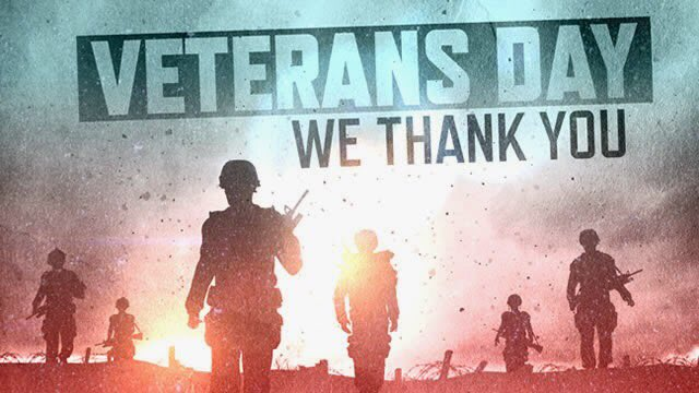 Happy Veterans Day to the True heroes! They fight each day to keep our country free. Thanks for your service! ✊