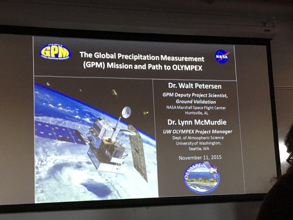 #GPM #NASASocial #EarthRightNow presentation by Dr. Walt Petersen https://t.co/szCtYEin8y