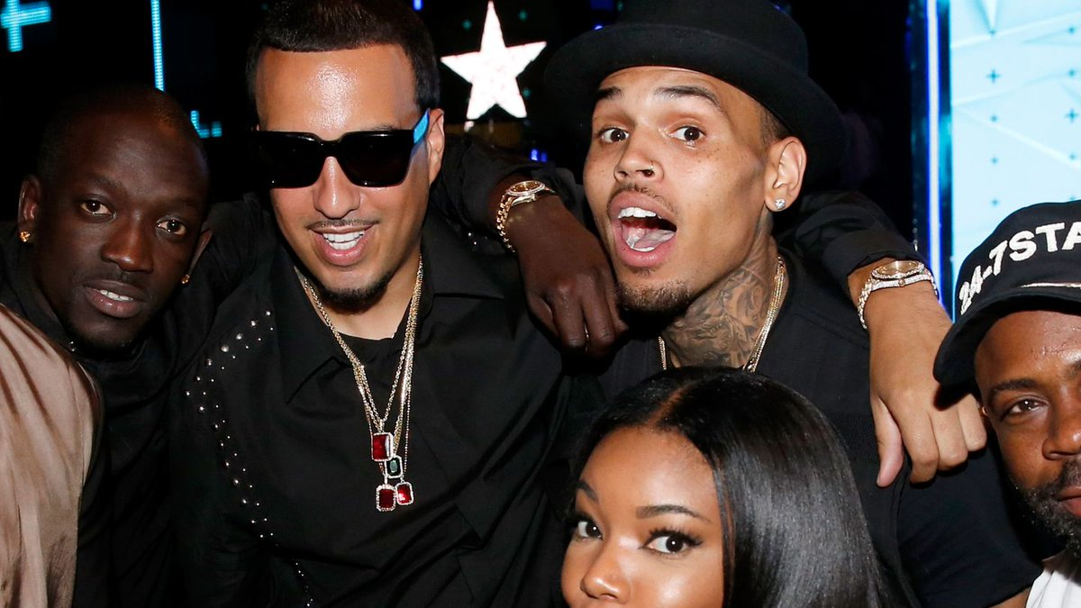 Chris Brown actually painted this for French Montana's birthday: