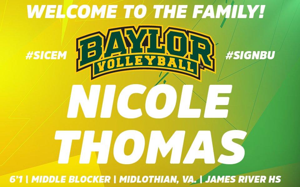 Welcome to the #BaylorFamily, Nicole Thomas! #SignBU #SicEm https://t.co/OG6w6WzHPO