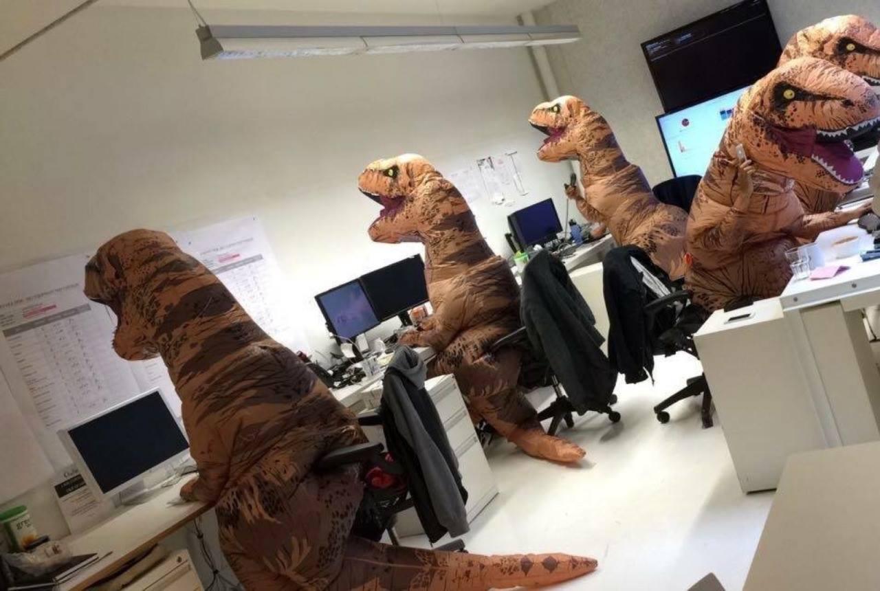 Paleontology department on Halloween... https://t.co/D5gFld7MLt