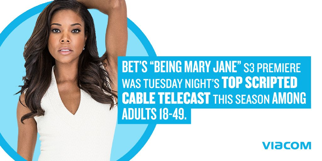 """""""@BET @beingmaryjane S3 premiere was Tues night's top scripted program on cable this season among adults 18-49"""" - PD https://t.co/ggJdElDP7j"""