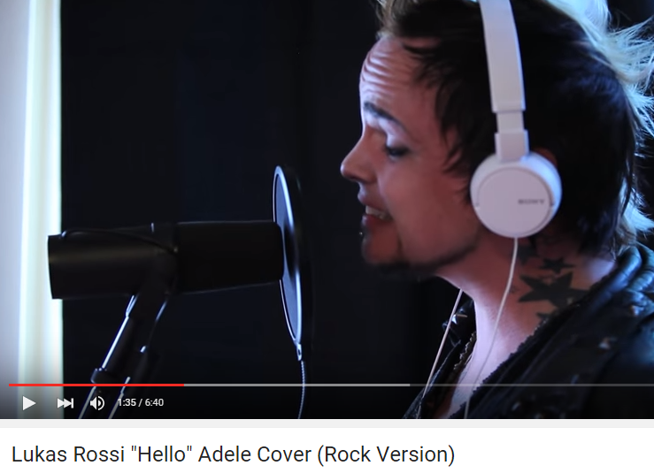 You gotta hear this.  @lukasrossi and his AMAZING rock version of #Hello by #Adele.   https://t.co/g37ekFOXEa https://t.co/CHlwXsHzrw