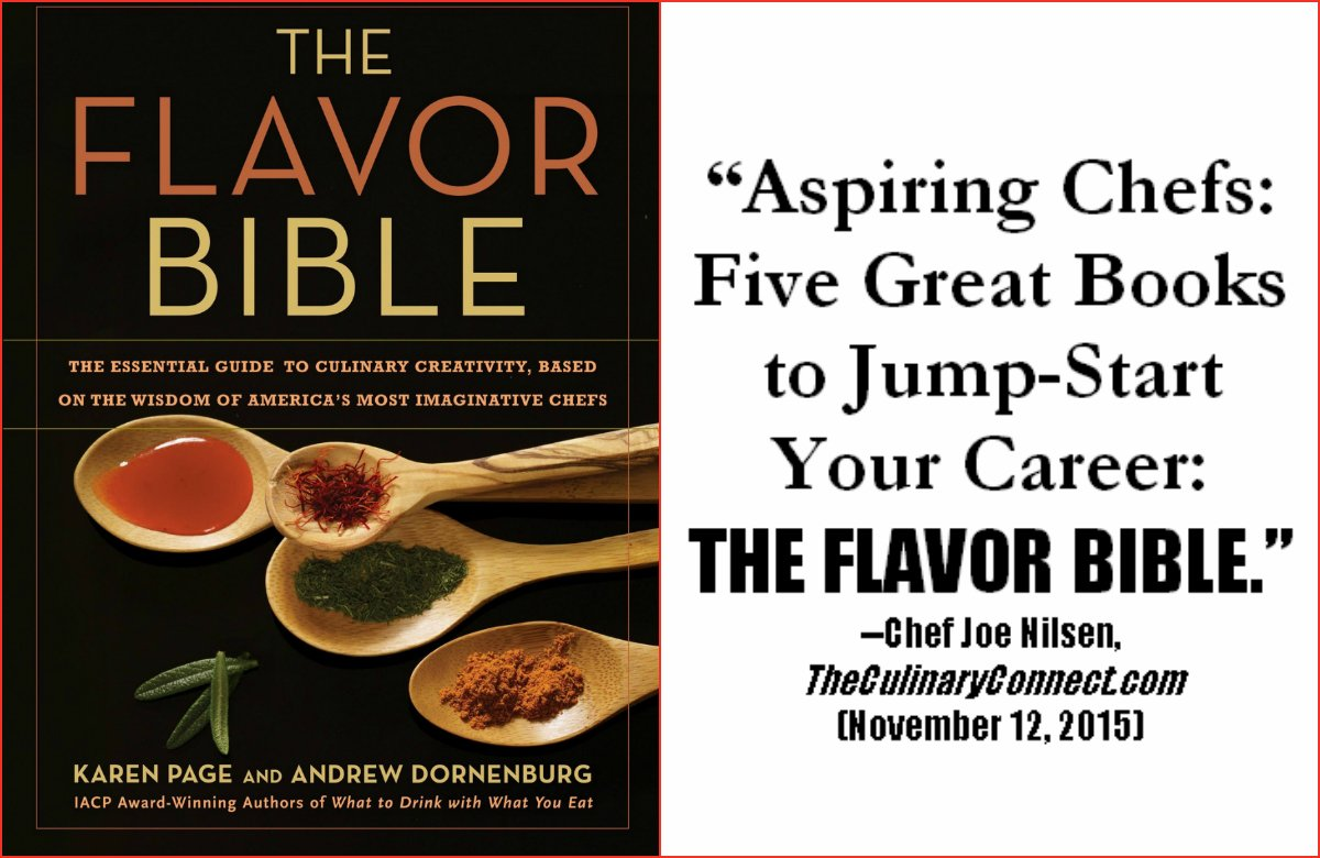 Thanking Chef Joe Nilsen for naming THE FLAVOR BIBLE to his Top 5:  https://t.co/ro8Kj9lKaX https://t.co/A0NhM0XIgs