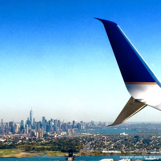 How close is EWR to NYC? You'll want a window seat on your next p.s.® flight to LAX or SFO.
