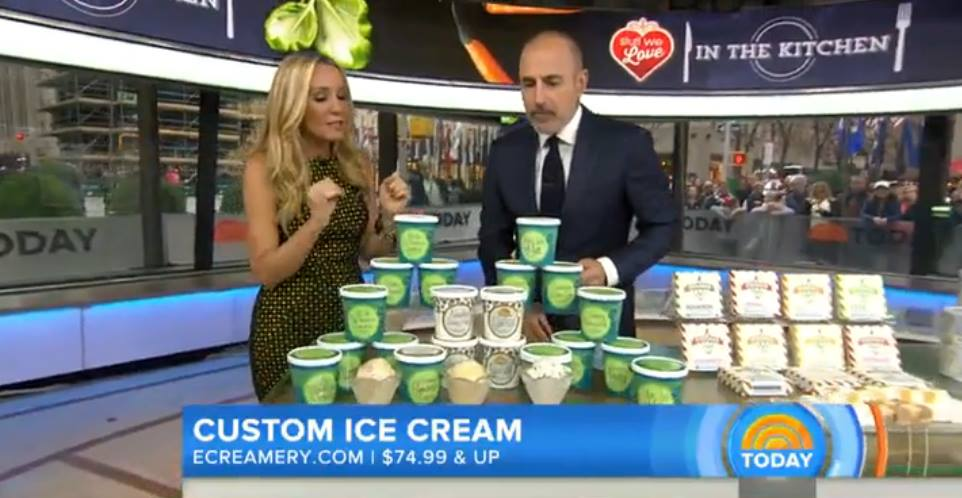 This morning on @TODAYshow ..@eCreamery holiday gift feature. https://t.co/dqlhteAuxB