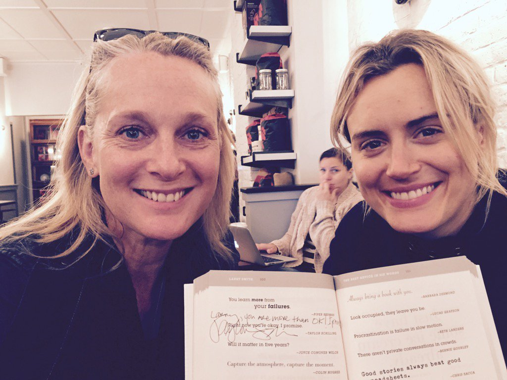 .@TaySchilling & @Piper: sharing their story. P. 100 of The Best Advice in Six Words by @sixwords & @larrysmith https://t.co/x3qO1O2nzr