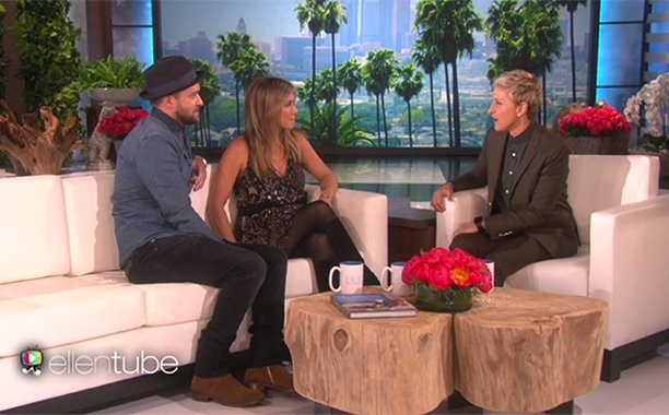.@TheEllenShow celebrates 2,000th episode with pals Jennifer Aniston & Justin Timberlake: 🎉