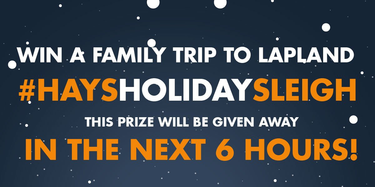 Win a family trip to lapland! RT #HaysHolidaySleigh for your chance to win! https://t.co/UQlIcYjqnl