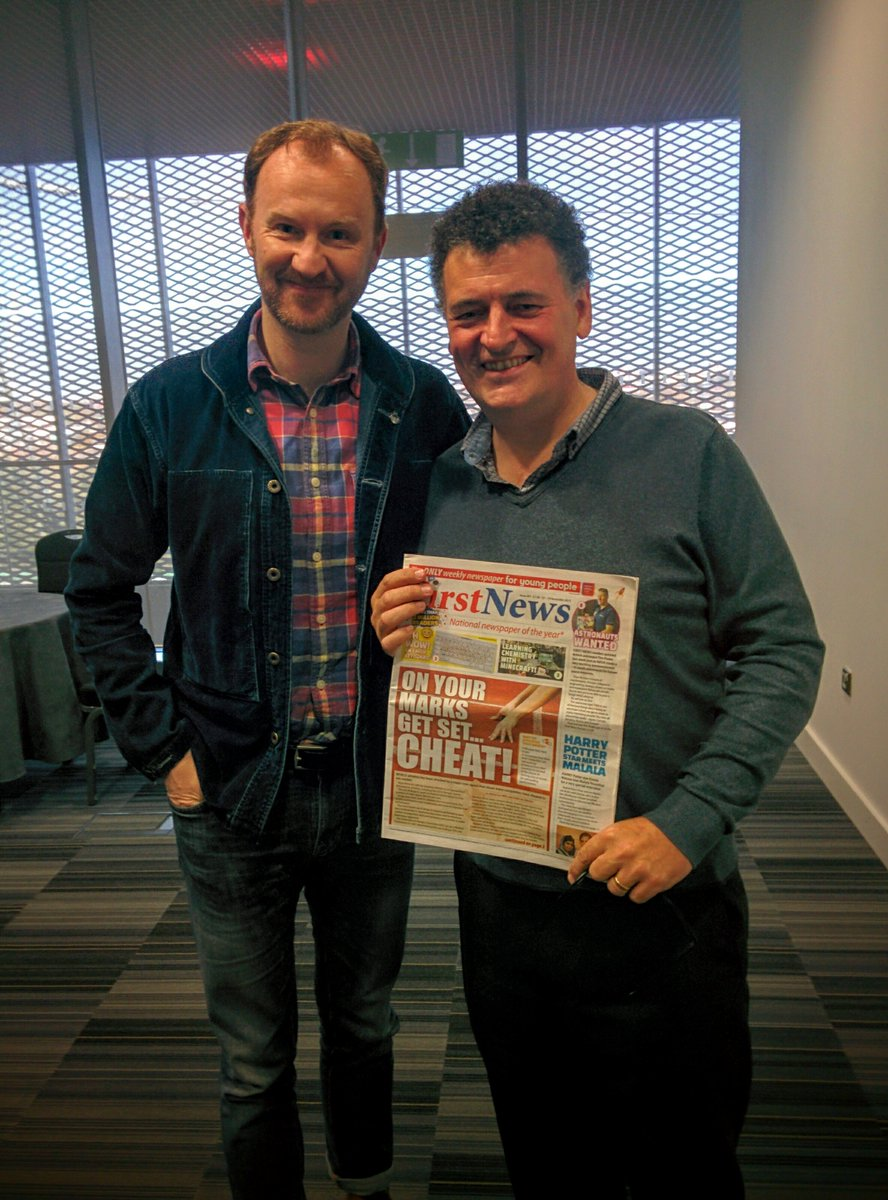 Huge thanks to @Markgatiss and Steven Moffat for a great chat this morning! It was great to meet you! https://t.co/c9NLXxZSCo