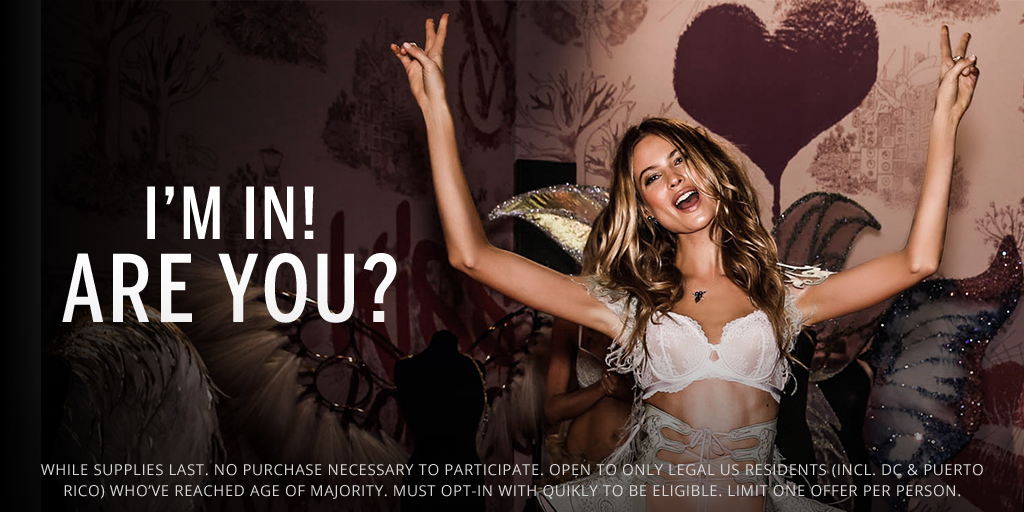 You're THIS close to a #VSFashionShow bra. Opt in for this offer before they're gone! https://t.co/ogWvlskYos https://t.co/MAGlXAqFhW