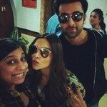 RT @DeepikaPFC: [PIC] Deepika Padukone and Ranbir Kapoor with @Su4ita today #Tamasha https://t.co/yu4TSEjUM2