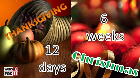 Holiday Countdown: 12 days until #Thanksgiving and 6 weeks until #Christmas! What
