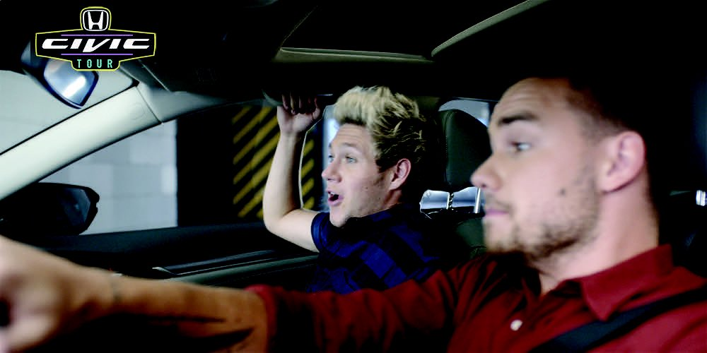 Watch @onedirection test out the all-new @Honda Civic Sedan:https://t.co/BiIDowyGjj #HondaCivicTour #1D #MadeInTheAM https://t.co/BgqFX5nABC