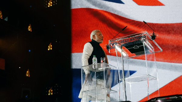 Incredible speech from PM #ModiatWembley. Strong UK ally and leader of one of world's largest democracies. Namaste! https://t.co/UoE7fTxG8d
