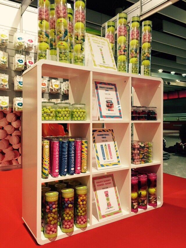 The #Sugarpova booth ready to go at the O2 Arena in Prague for this weekends #FedCupFinal #FoodCourtArea #SweetTreat https://t.co/F7VidHIF4O