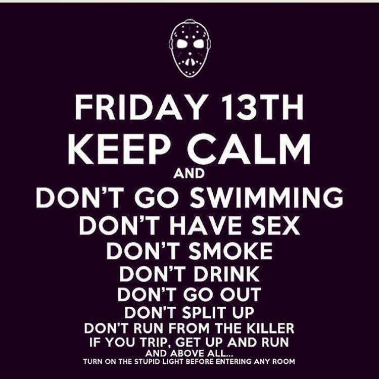 Happy Friday the 13th. One of my favorite days out of the year. #keepcalm #ButRun #friday13th https://t.co/hkEsiA0ufW