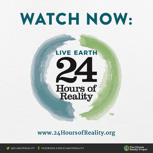 We're now live in Paris at #24HoursOfReality! Join us: https://t.co/X4b2qKCvfT #WhyImWatching https://t.co/YzzwFvvj7M